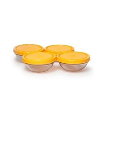 Paşabahçe Chefs Kapaklı Cam Saklama Kabı 4 Lü Renkli